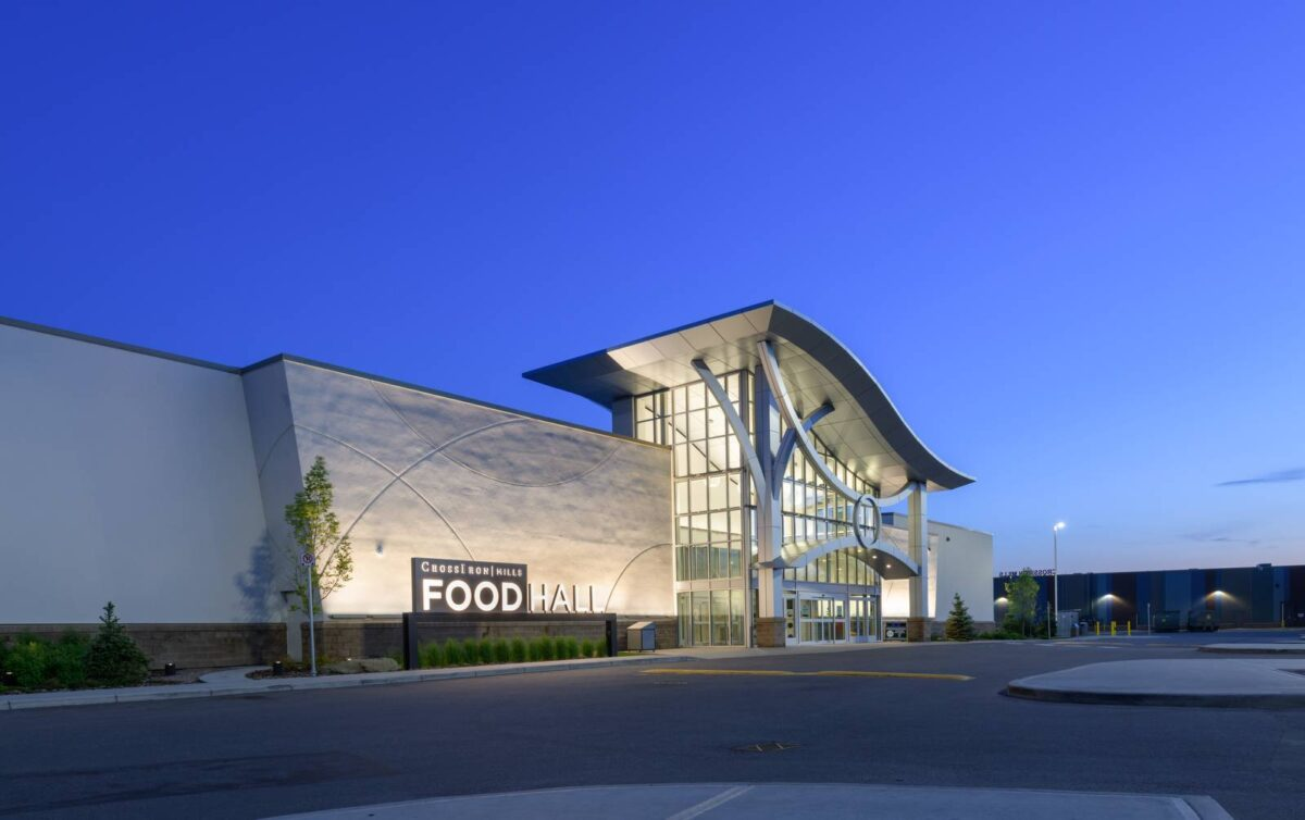 "Food Hall entrance in ""Entertainment Neighbourhood"" at CrossIron Mills"