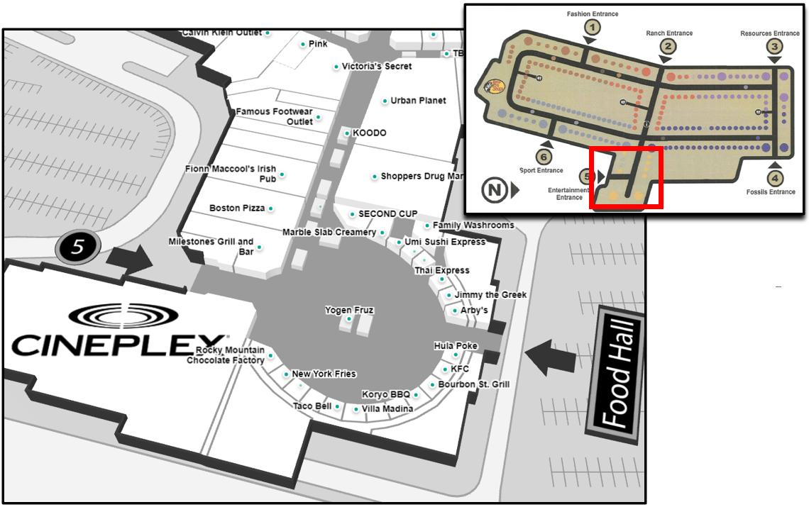 Sports Neighbourhood and Food Court Map