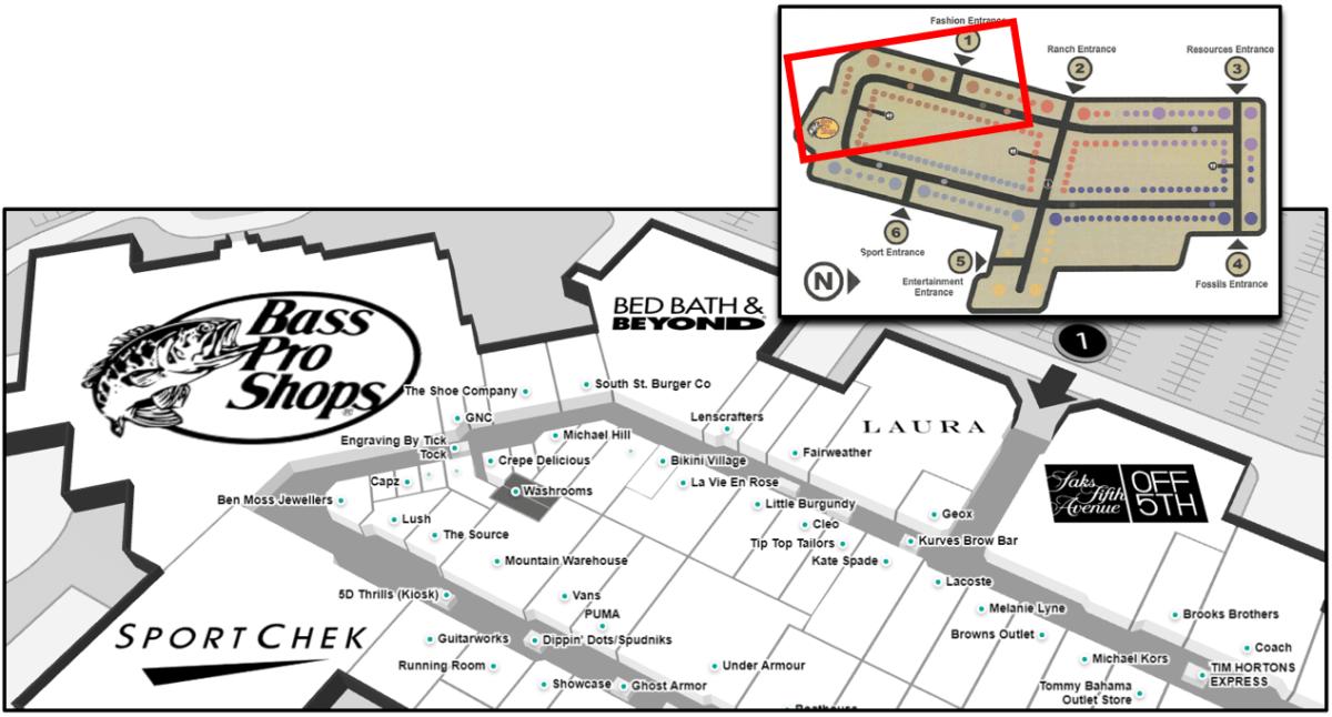 CrossIron Mall Map - Fashi on Neighbourhood