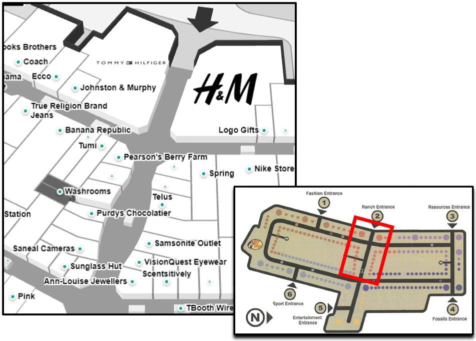 CrossIron Mall Map - Ranch Neighbourhood