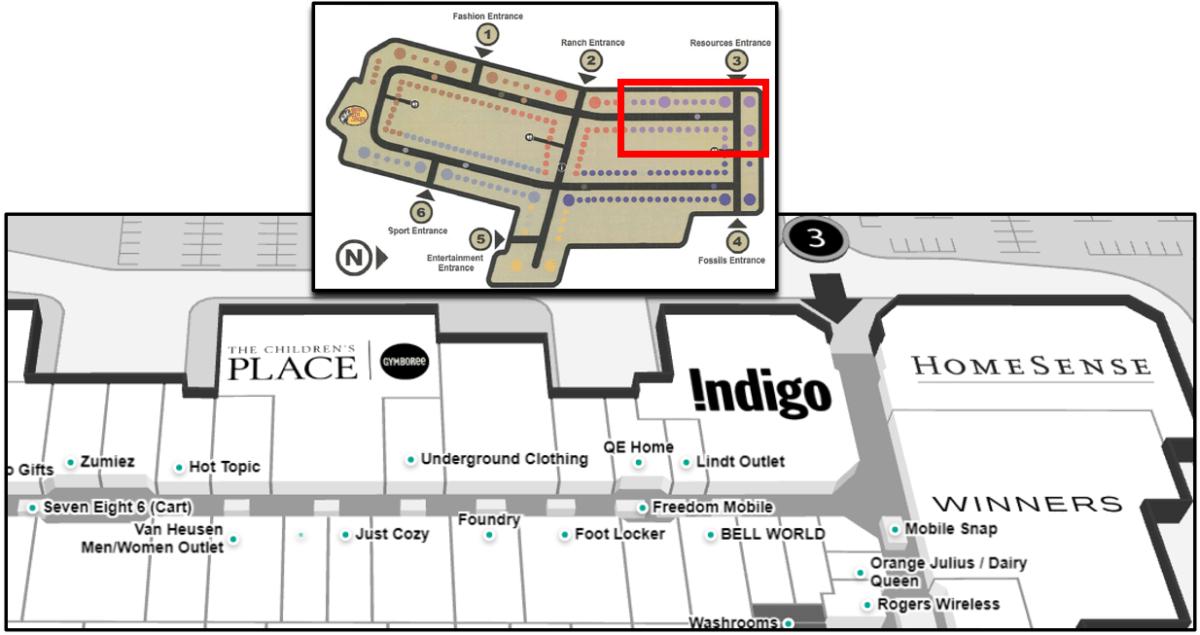 CrossIron Mall Map - Resources Neighbourhood