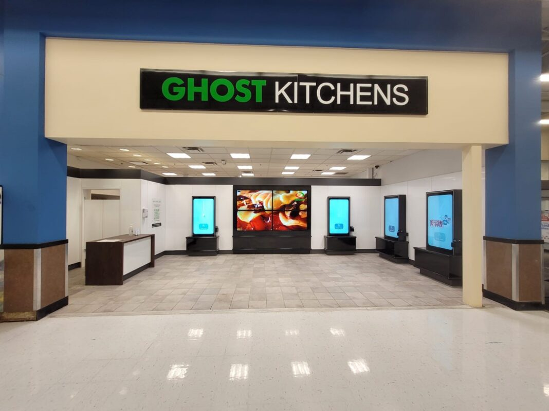 Exterior of new Ghost Kitchens location within the St. Catherines, Ontario Walmart store. Photo: Ghost Kitchens