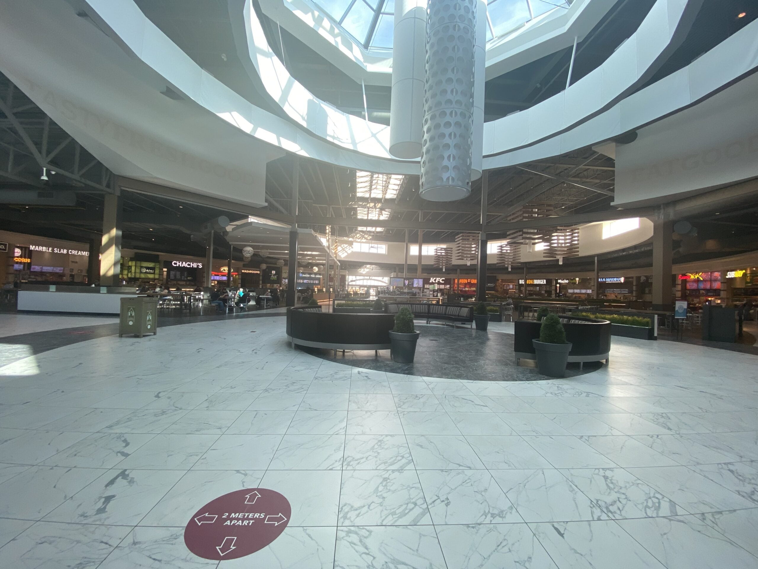 Centre of Food Hall in Entertainment Neighbourhood