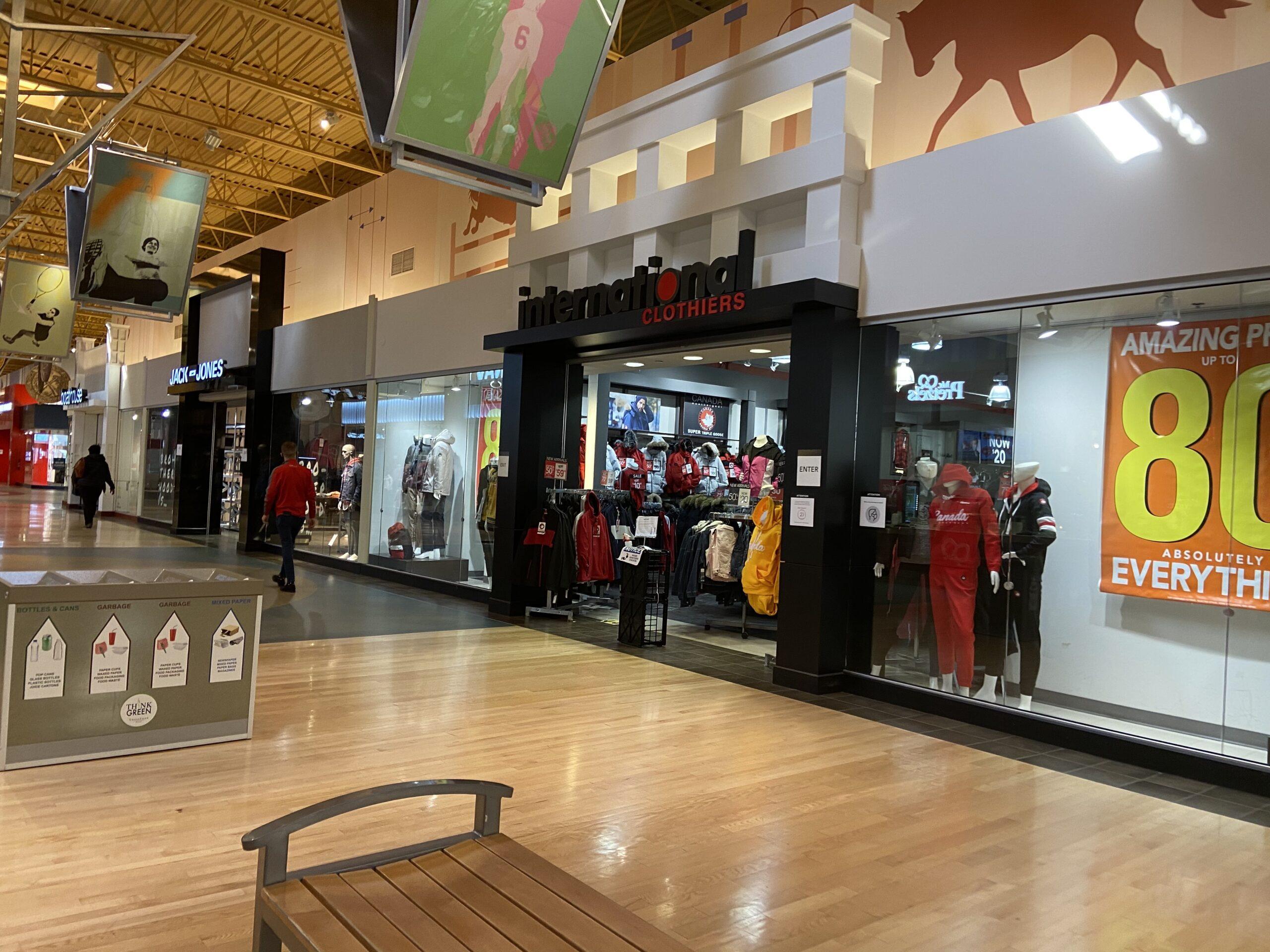 International Clothiers at CrossIron Mills.