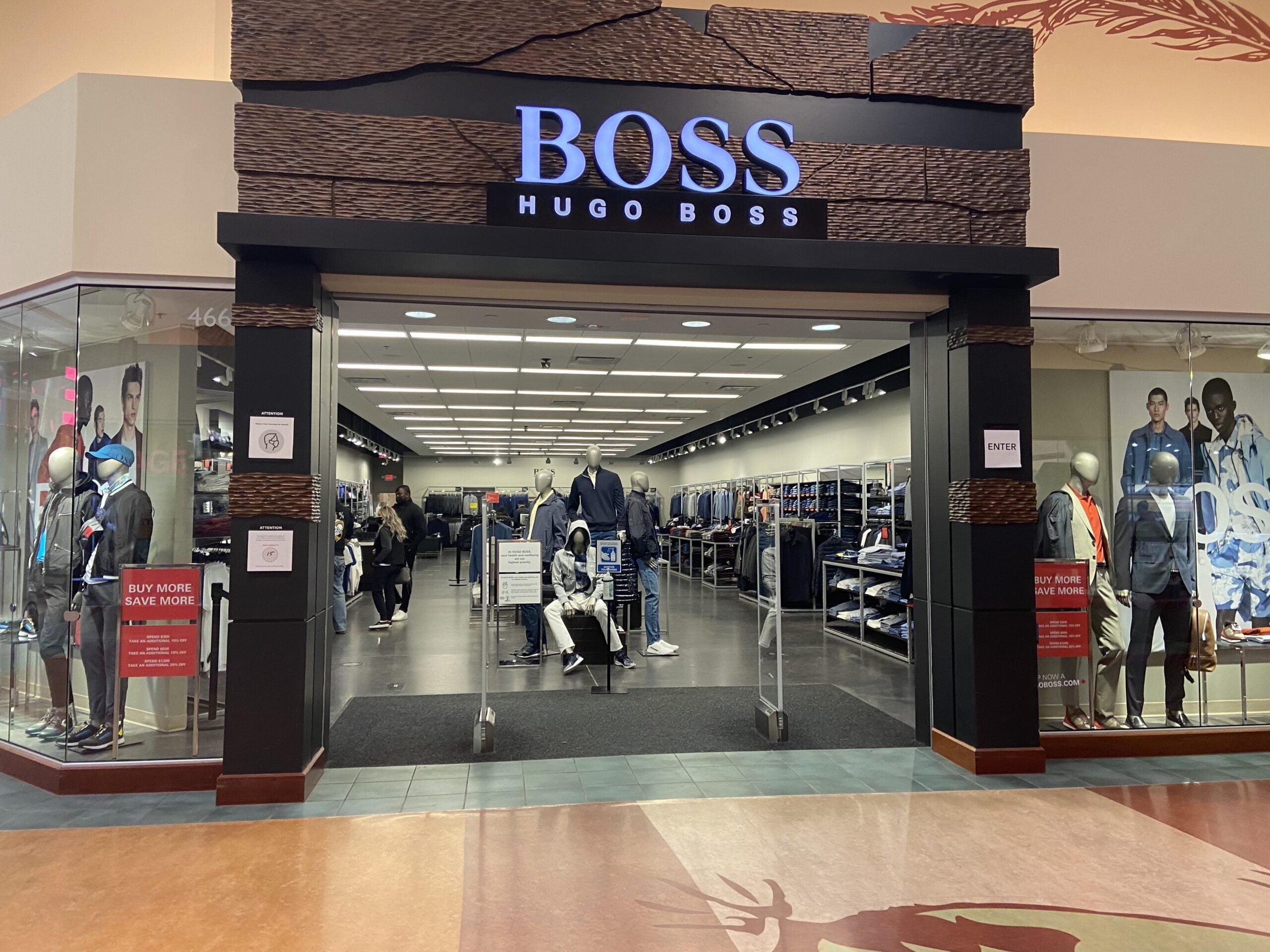 Hugo Boss at CrossIron Mills.