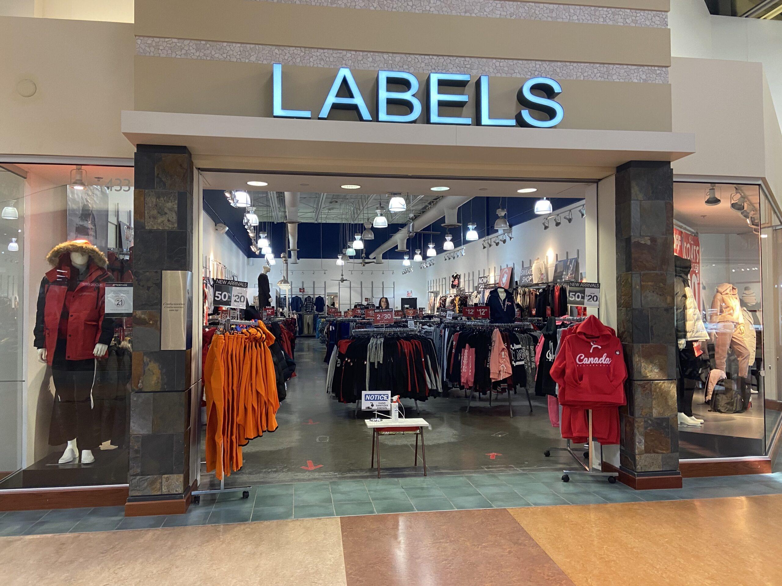 Labels at CrossIron Mills