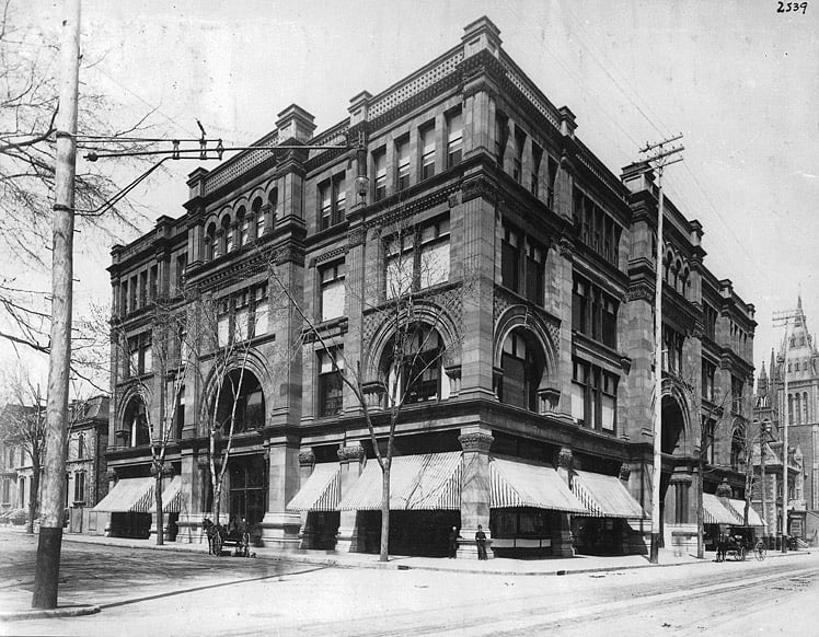 Henry Morgan Building, the flagship store in Downtown Montreal (1890s)