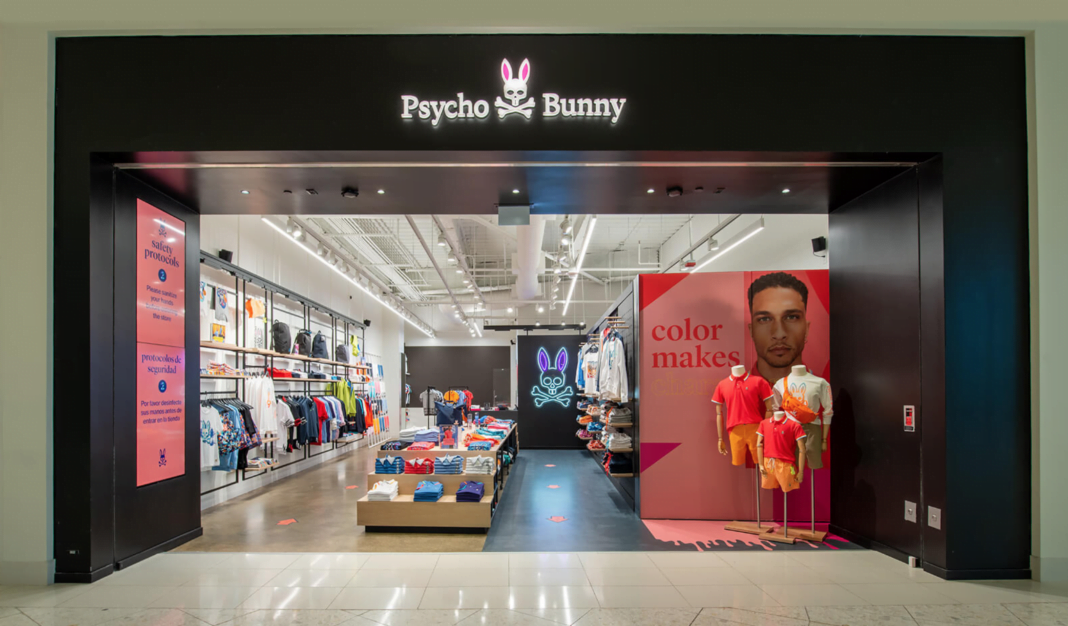 Exterior of Psycho Bunny store in the US. Photo: Psycho Bunny