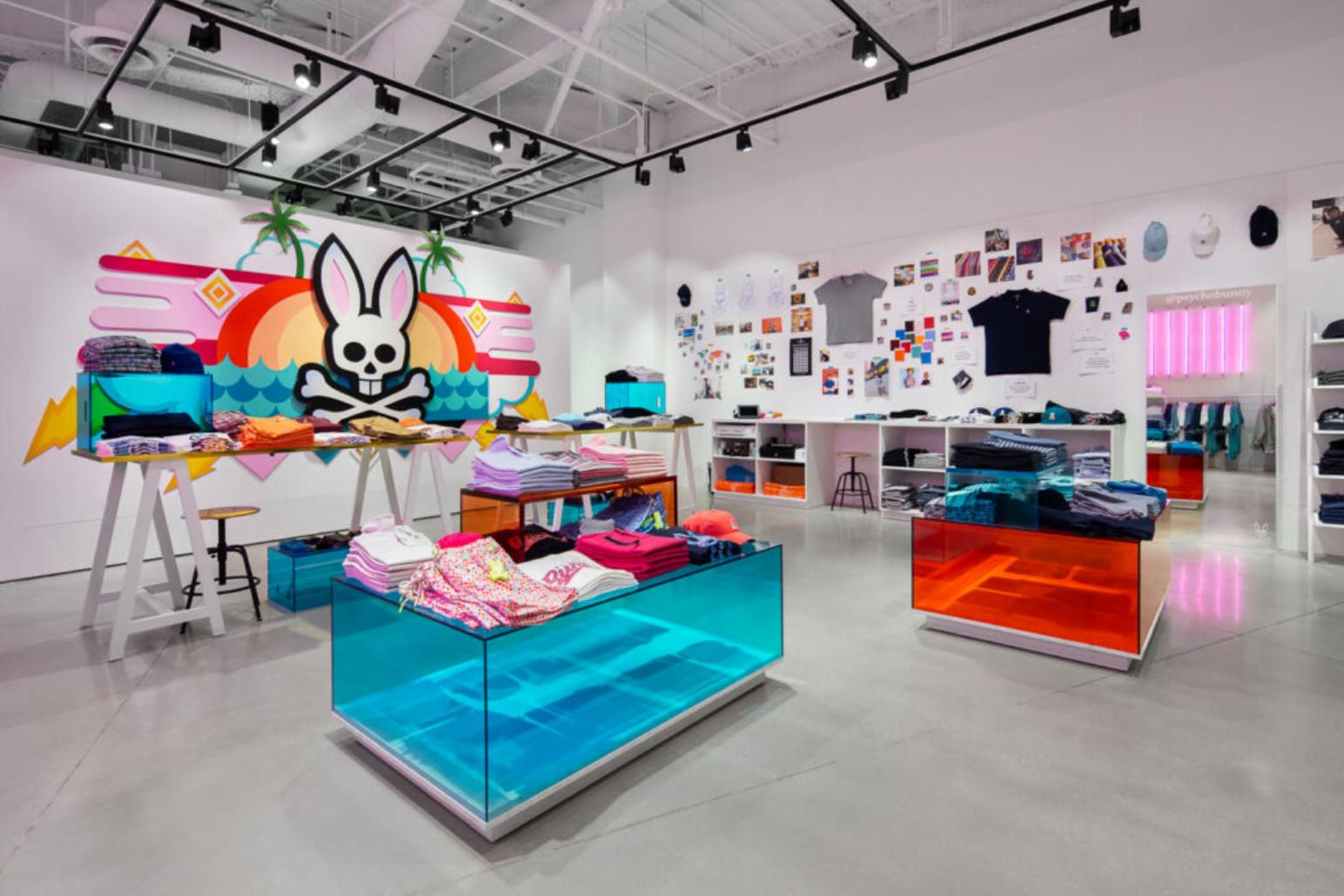 Popup Psycho Bunny store in Miami. Photo: Psycho Bunny