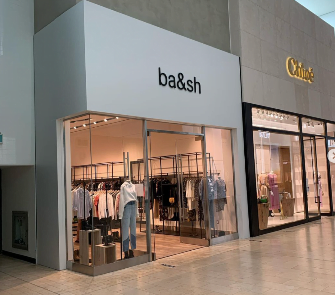 Exterior of new ba&sh store in Yorkdale Shopping Centre.