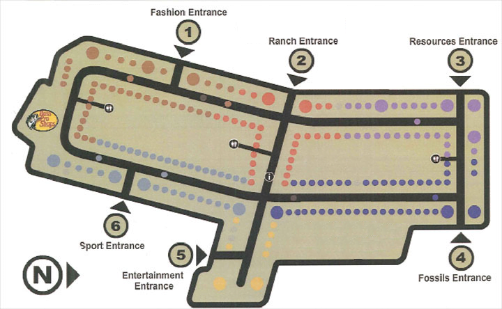 CrossIron Mills Map (updated by Retail Insider with relocation of Food Court by Exit 5 in 2016).