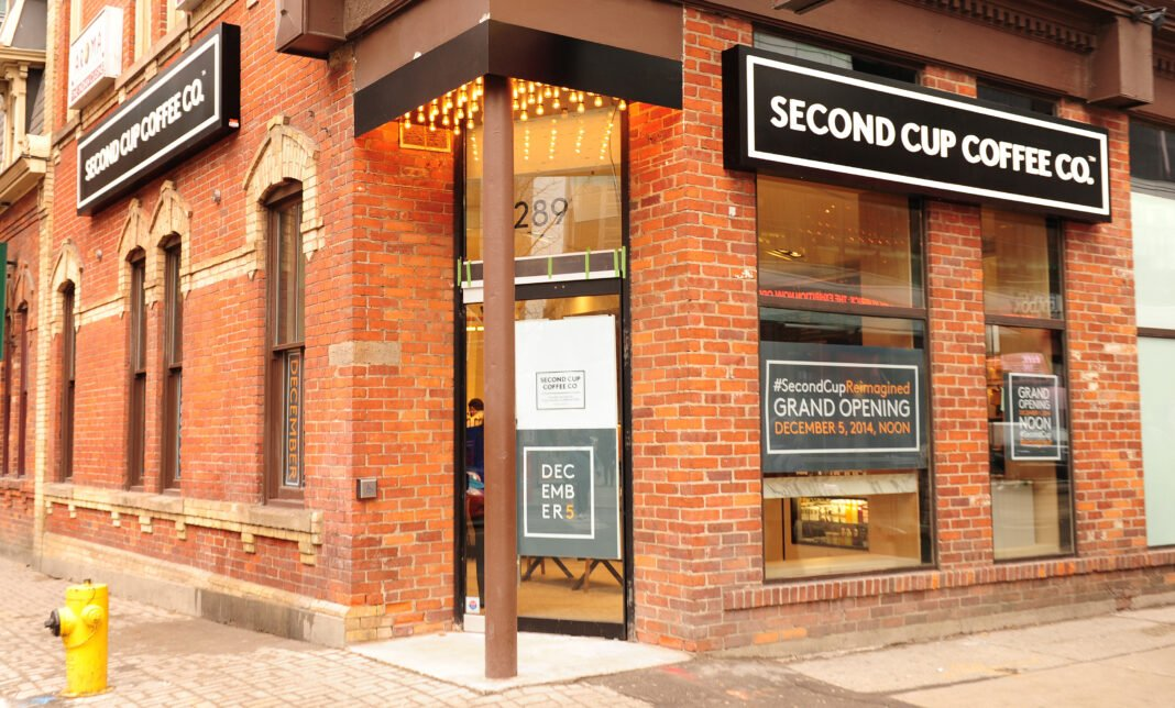 Exterior of Second Cup location on King Street East in Toronto. Photo: Second Cup