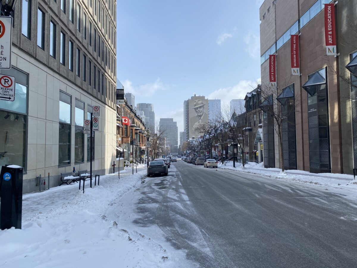 Overall Crescent Street in Montreal. PHOTO: MAXIME FRECHETTE