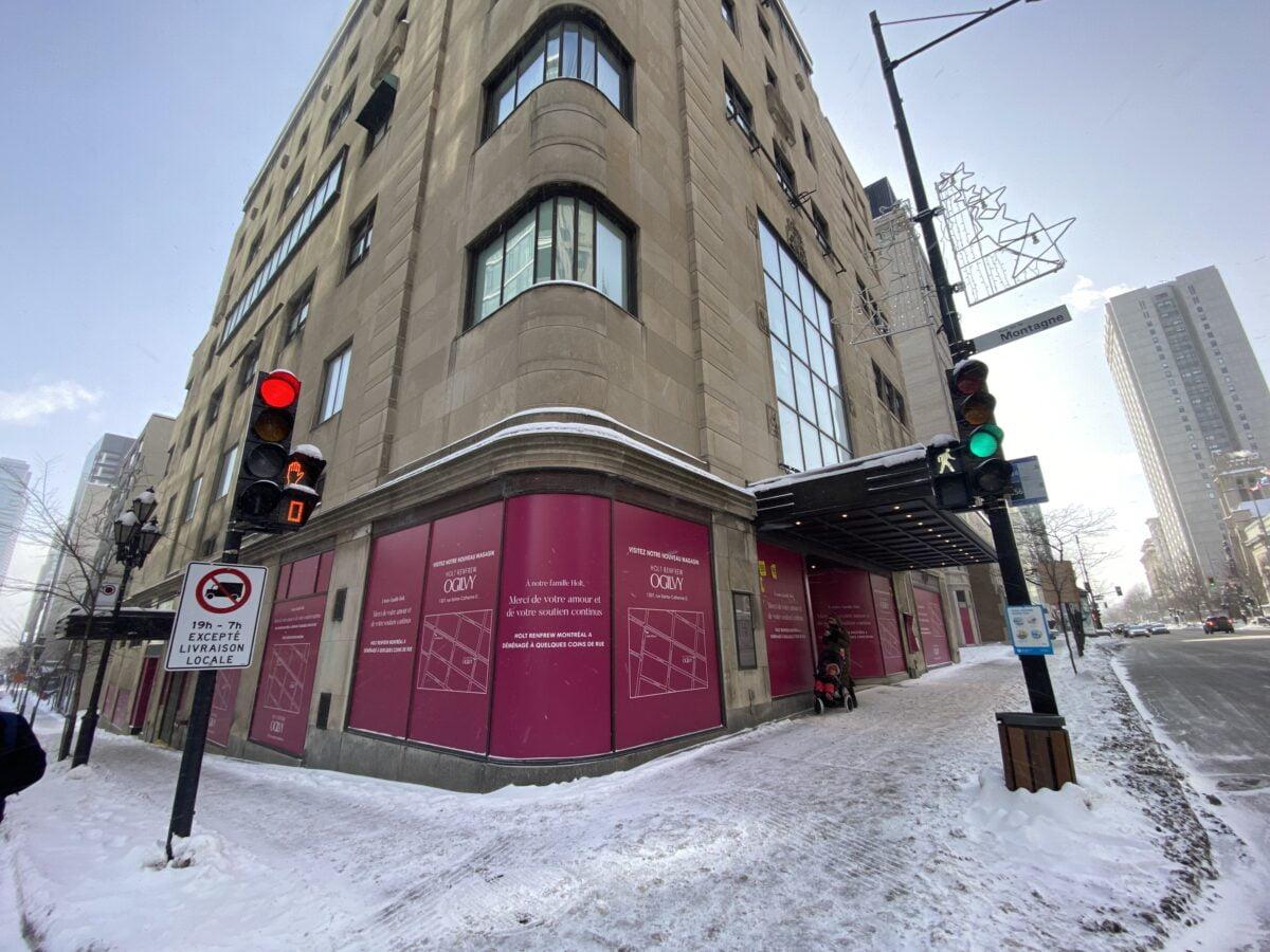 Old Holt Renfrew location from Sherbrooke in MontrealTTE