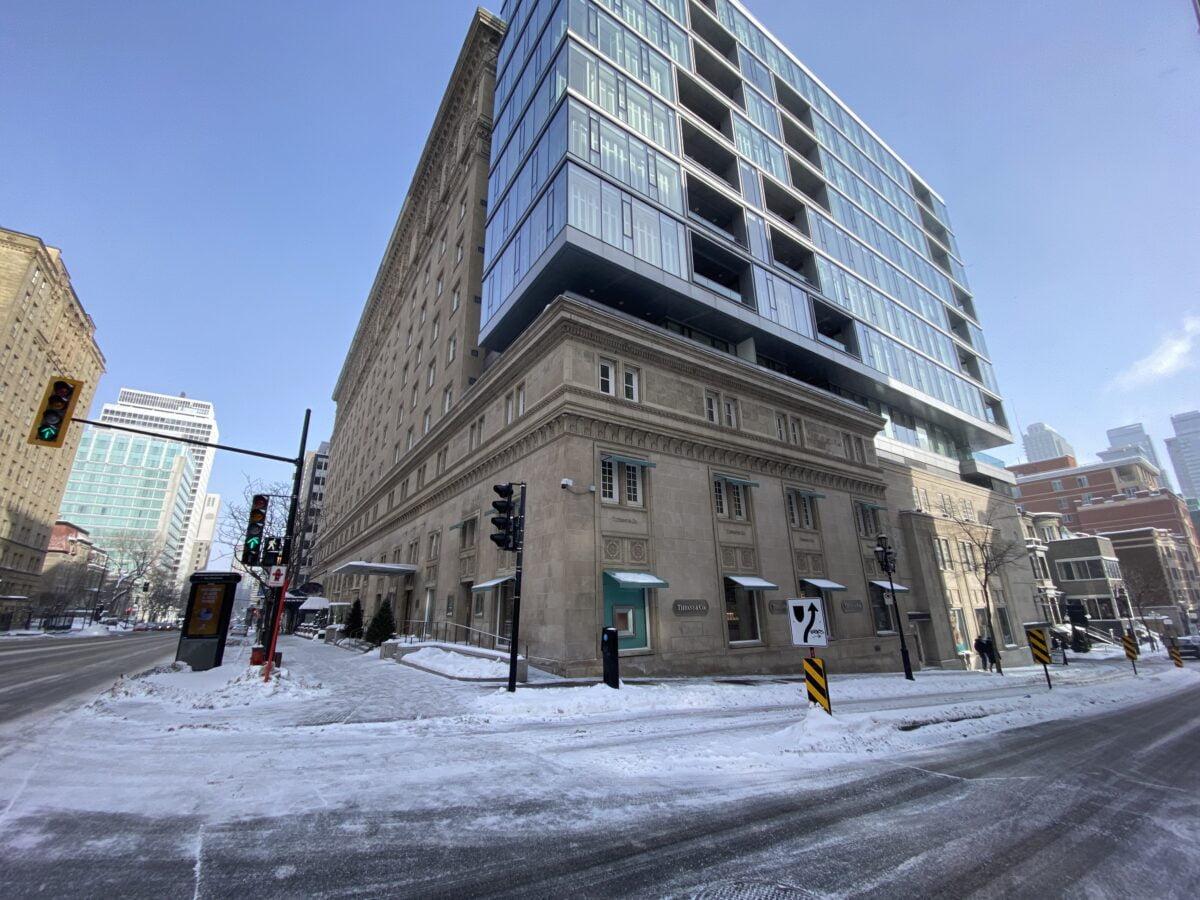 Ritz Carleton on Rue De La Montagne in Montreal
