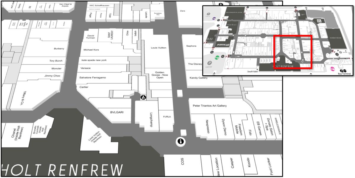 Map of Luxury Loop at Yorkdale