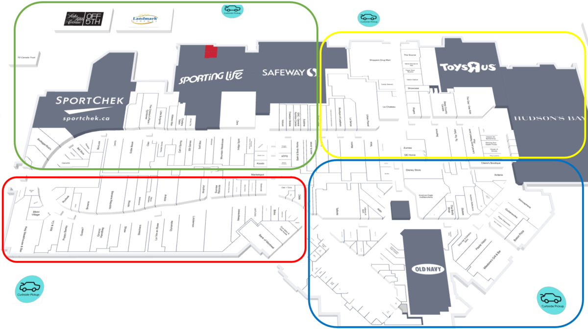 Tour Zones for CF Market Mall