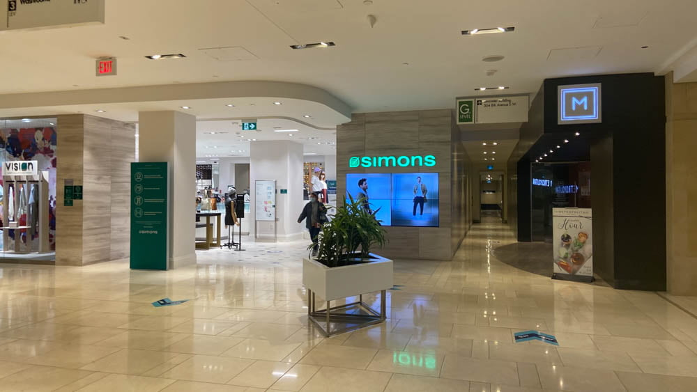 "Simons entrance at ""The Core"" in Calgary"
