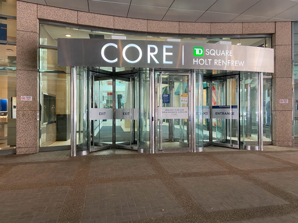 """The Core"" entrance in Calgary"
