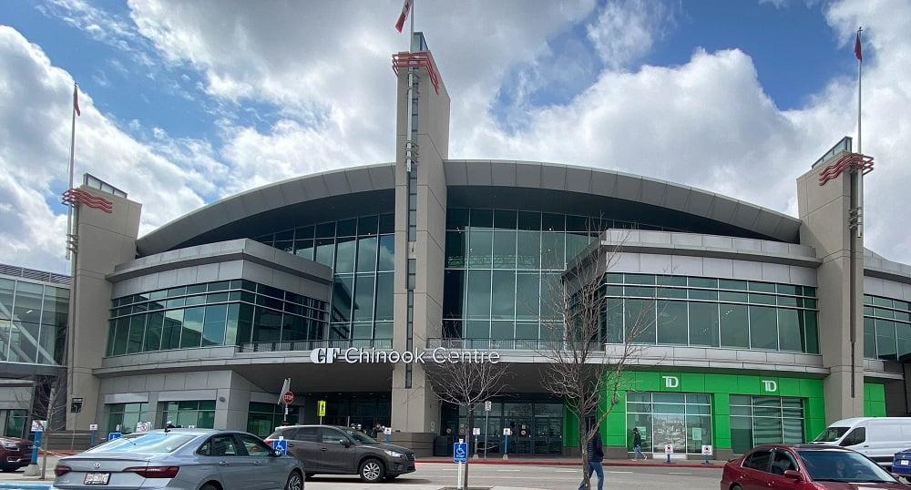 Main Entrance at CF Chinook Centre in Calgary
