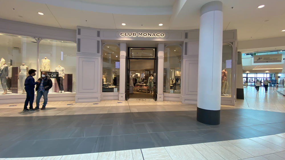 Club Monaco on the Lower Level at CF Chinook Centre