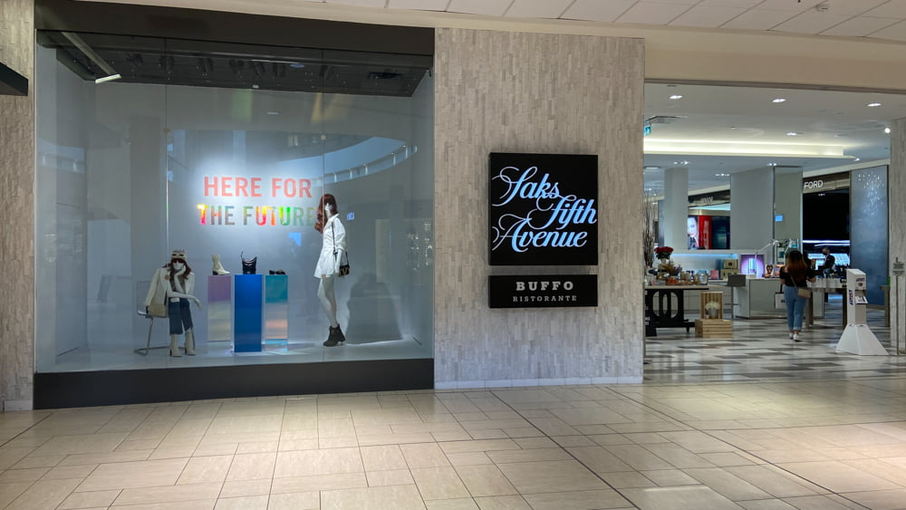 Saks Fifth Avenue on the lower level of CF Chinook Centre