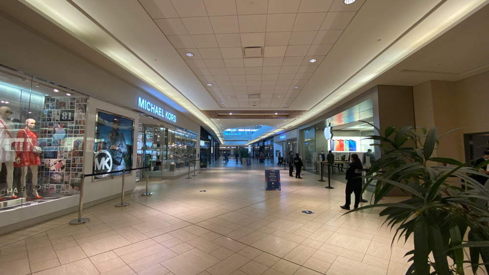 Michael Kors and Apple on lower level in CF Chinook Centre