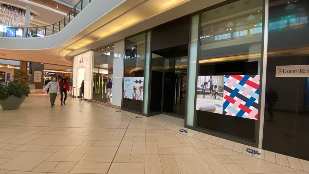 Armani Exchange on lower level in CF Chinook Centre