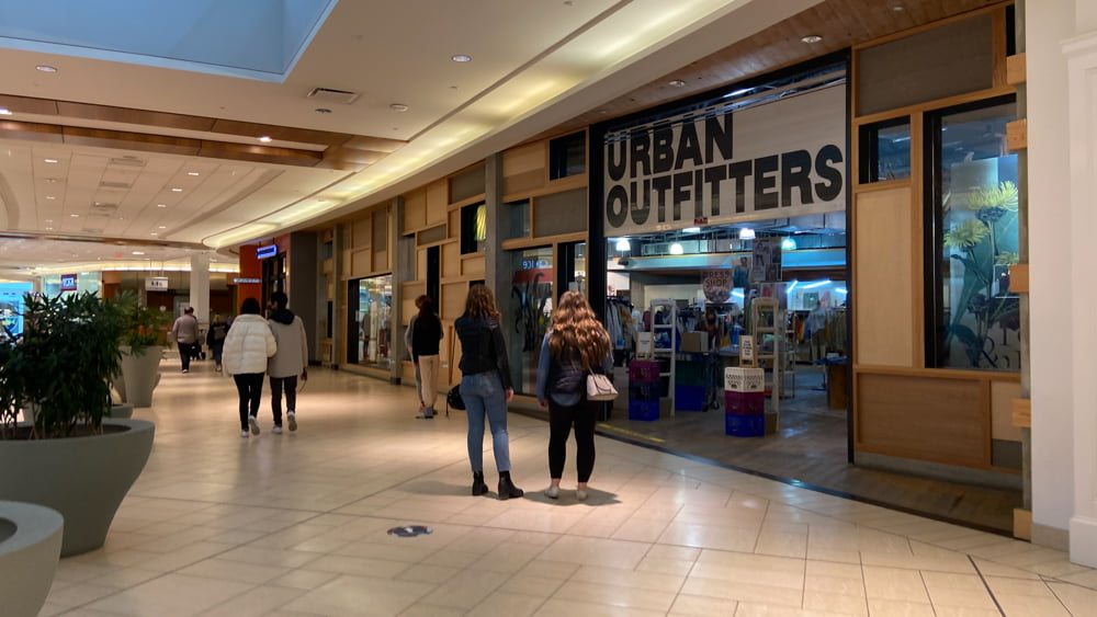 Urban Outfitters on lower level in CF Chinook Centre
