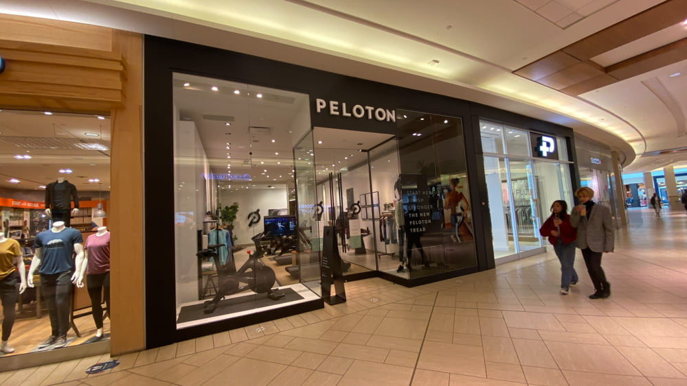 Peloton on lower level in CF Chinook Centre