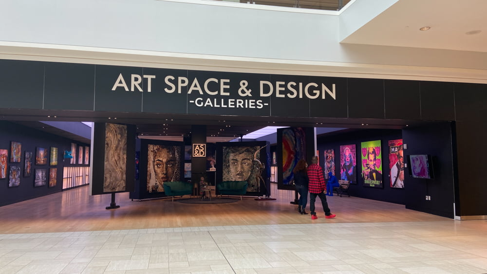 Art Space & Design Galleries on the lower level of CF Chinook