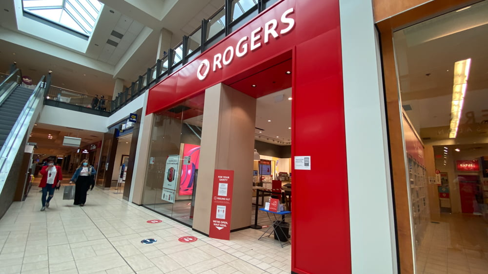 Rogers on the lower level of CF Chinook Centre