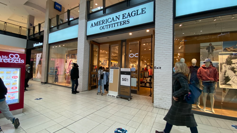 American Eagle on the Lower Level at CF Chinook Centre