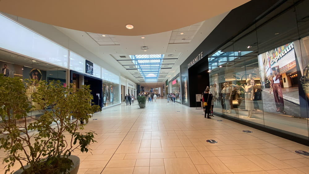 The Gap and Dynamite on CF Chinook Centre's lower level