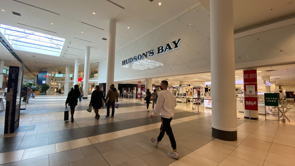 Hudson's Bay on CF Chinook Centre's lower level
