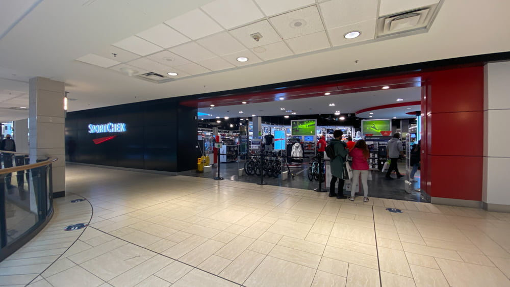 SportCheck on upper level in CF Chinook Centre