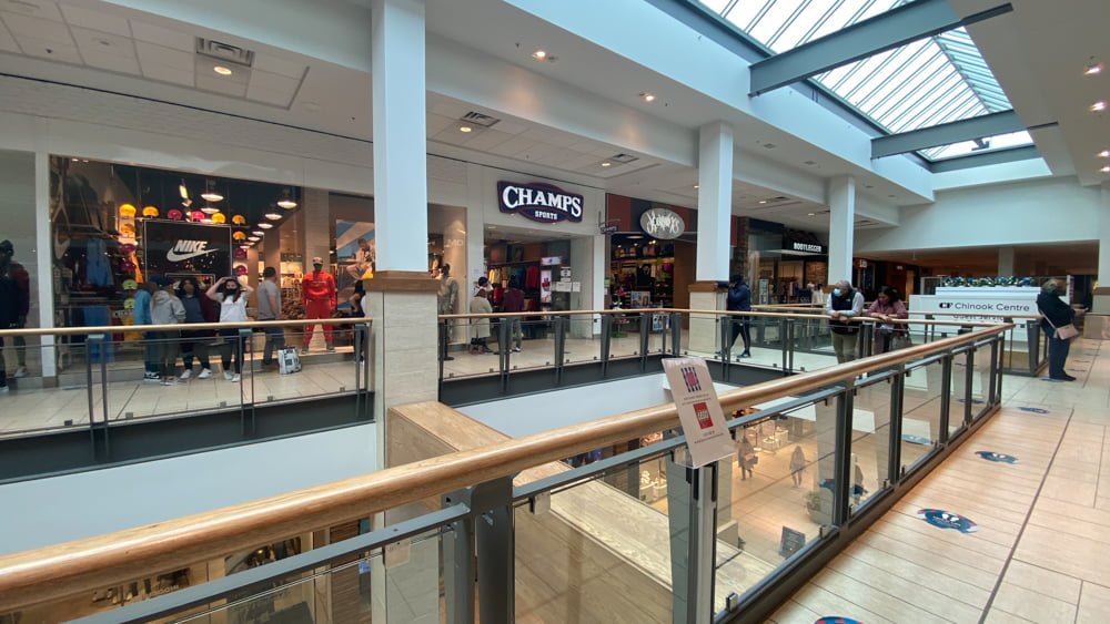 Champs Sports in Central Zone at CF Chinook Centre