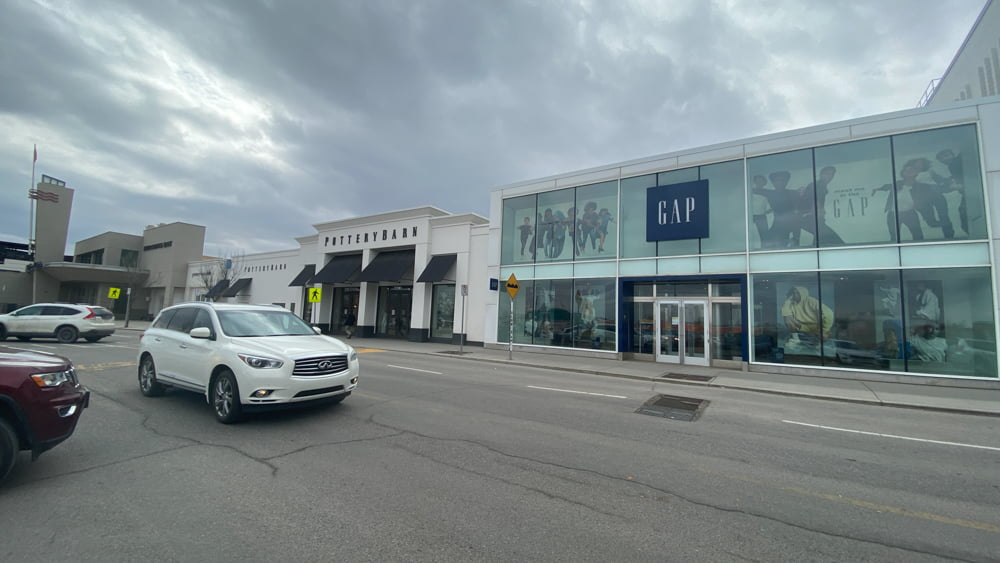 East Exterior of Pottery Barn and The GAP at CF Chinook Centre