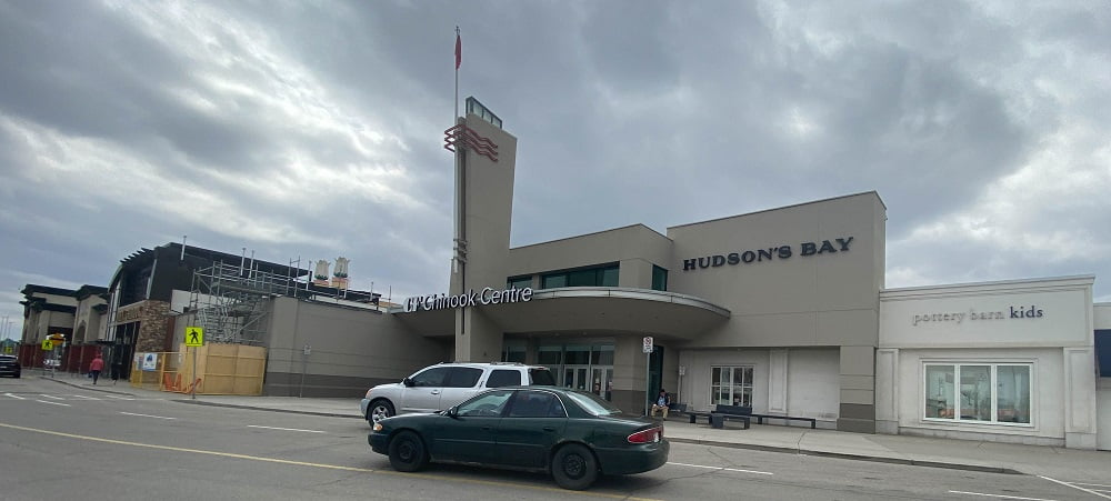 East Exterior promoting Hudson's Bay near Pottery Barn Kids at CF Chinook Centre