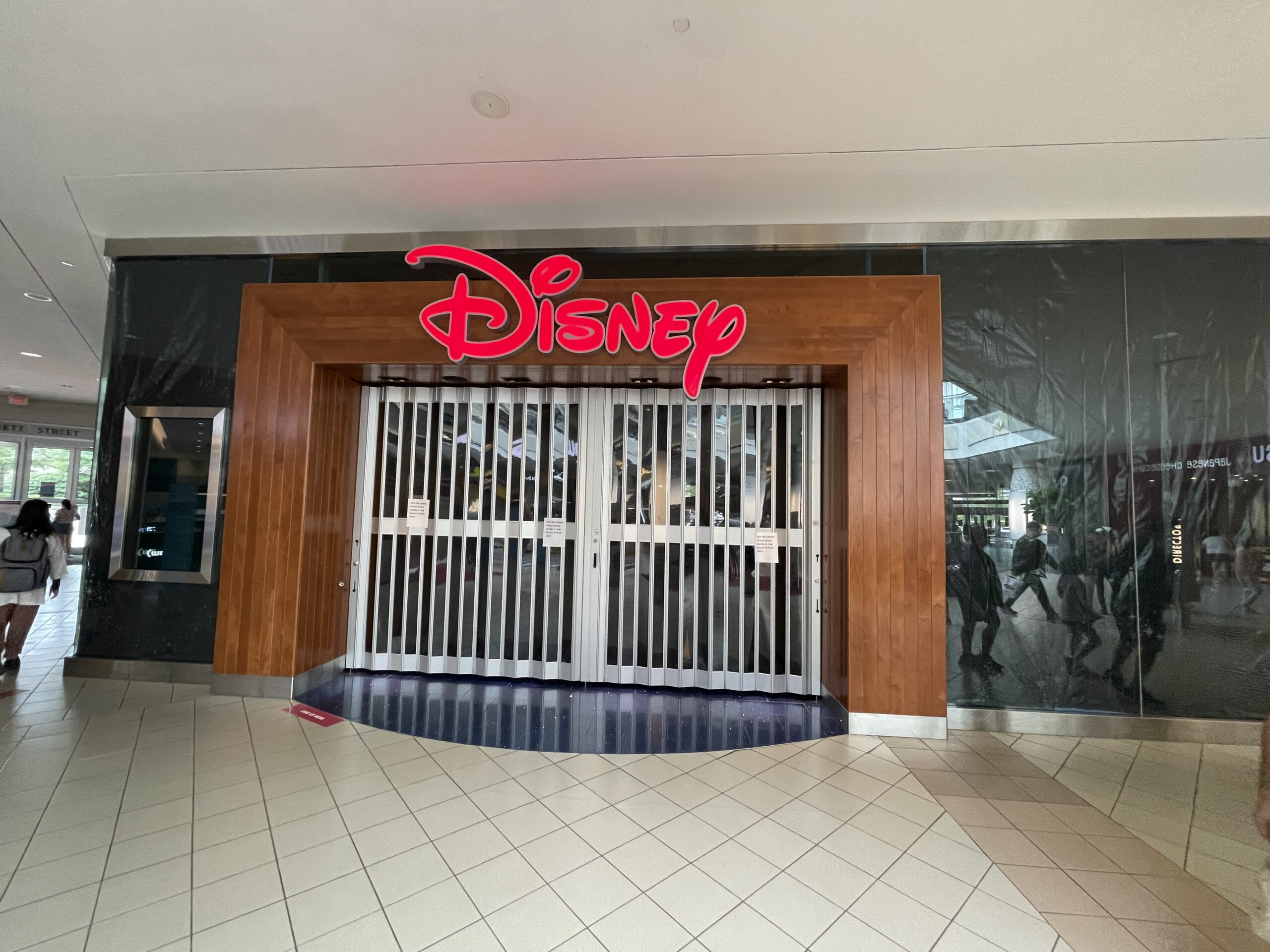 Former Disney location at Metrotown (July 2021)