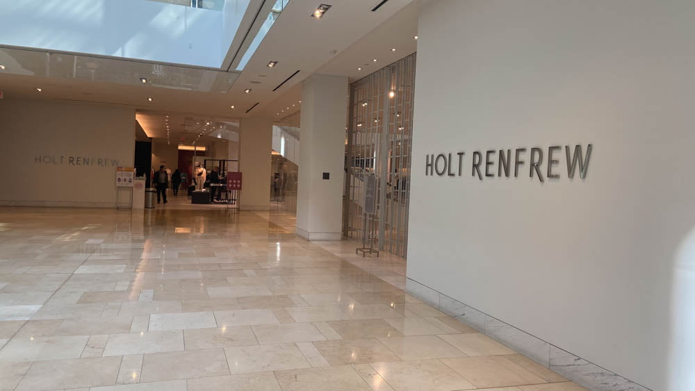 "Holt Renfrew 2nd Level entrance at ""The Core"" in Calgary"