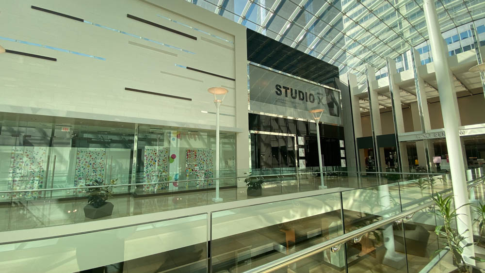 "Studio X's 3rd Level entrance at ""The Core"" in Calgary"