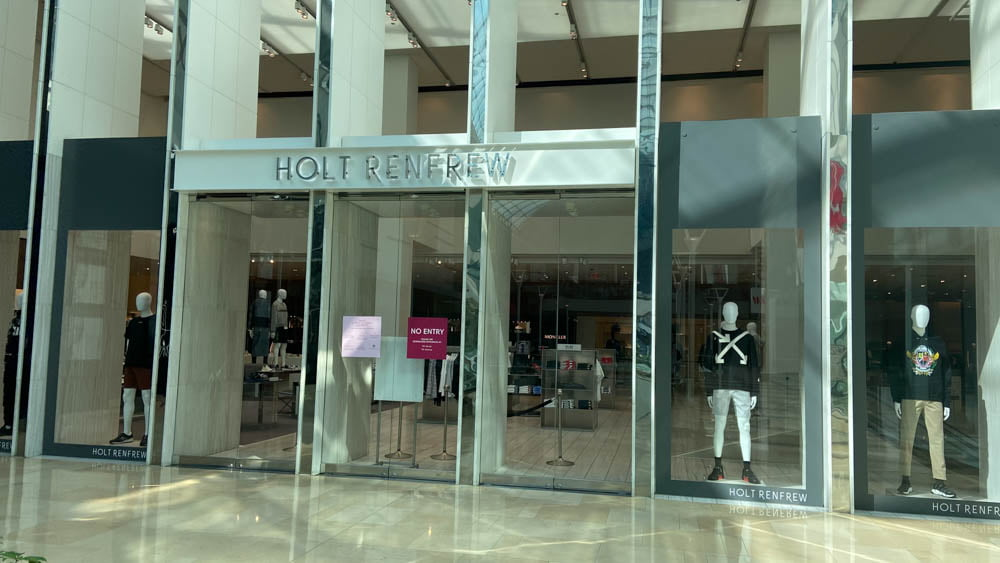 "Holt Renfrew 3rd Level entrance at ""The Core"" in Calgary."