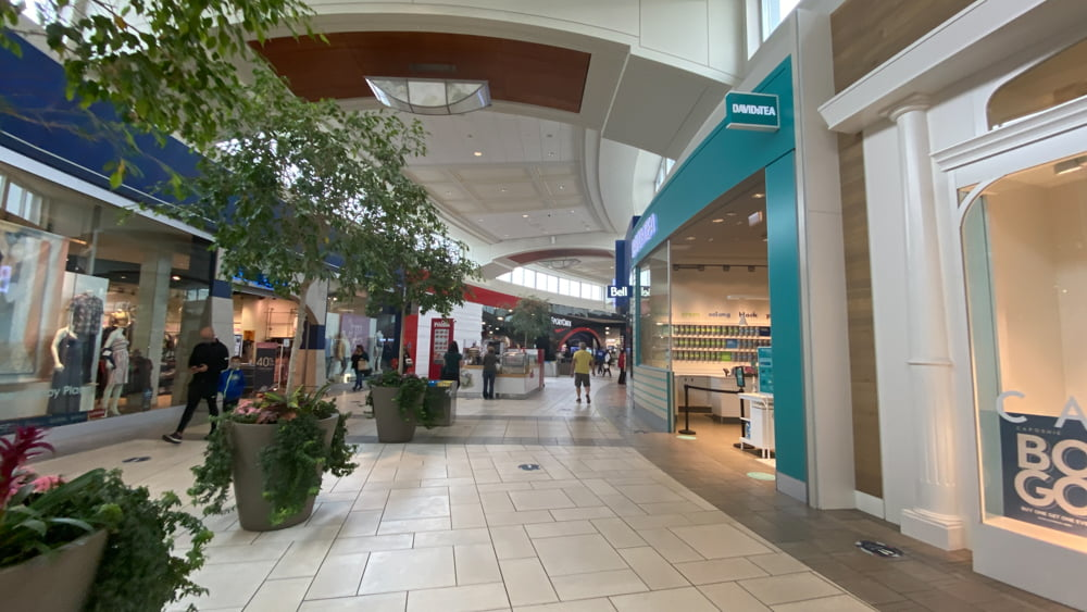 Mall Corridor including DavidsTea at CF Market Mall