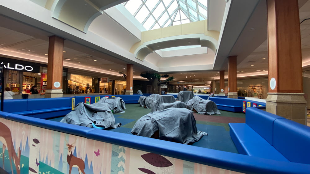Children's play area closed due to COVID-19 at CF Market Mall