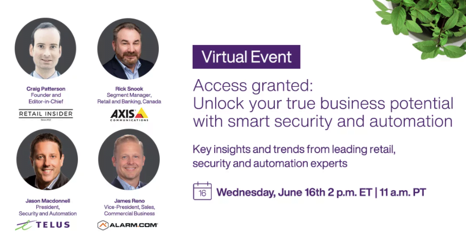 Free Live Event Featuring Retail Insider's Craig Patterson: Smart Security and Automation for Retail in Canada
