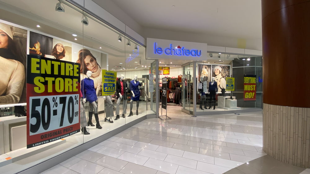 Le Chateau is shuttering Canada-wide, including at SouthCentre Mall in Calgary