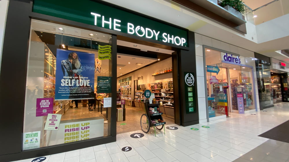 The Body Shop at SouthCentre Mall in Calgary
