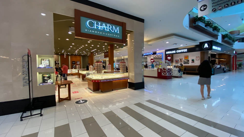 Charm Diamond Centres at SouthCentre Mall in Calgary