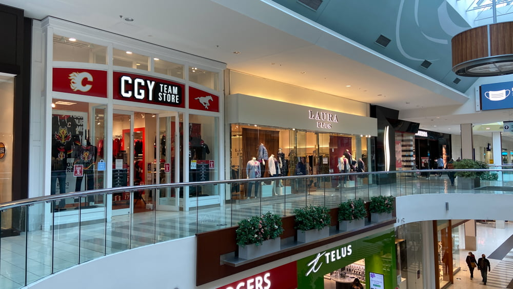 CGY Team Store at SouthCentre Mall in Calgary